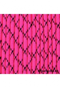 550 Paracord Neon Pink with Black X