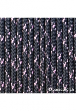 550 Paracord Black with Rose Pink
