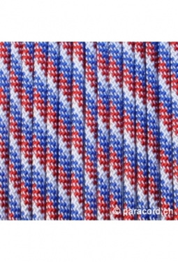 550 Paracord Red White Blue 6869